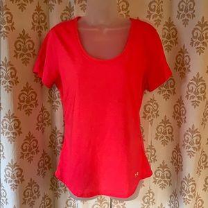 Pink Under Armour heat gear RUN pink T-shirt L